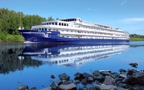 motor ship, Russia, tourism, Volga, recreation, nature