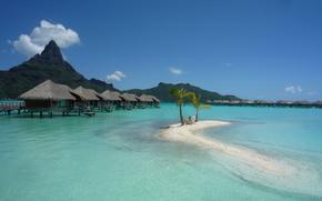 isola, Bora Bora, paesaggio, riposo