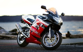Suzuki, motorcycle, red, Motorcycles