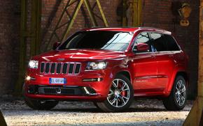 Jeep, grand cherokee, str8, rojo, coches, Maquinaria, Coche