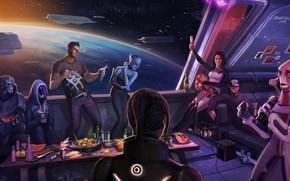 Mass Effect, Shepard, Lear, Miranda, angehen, Joker, party hard