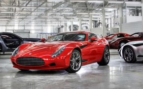 sports car, compartment, red, supercars