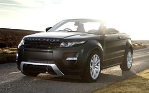 Land Rover, ranged rover, Ewok, Cabriolet, Concept, crossover, front, road, sky, Land Rover