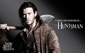 Snow White and the Hunter, Chris Hemsworth, muzhik, actor, ax, film