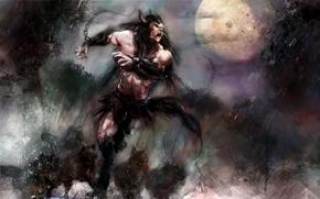 Fantasy, werewolf, Wolves