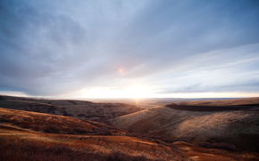 природа, орегон, холмы