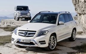Mercedes, HCA, Pan Klasa, Gelendvagen, Crossover, biay, jeep, SUV, skalny, niebo, Mercedes