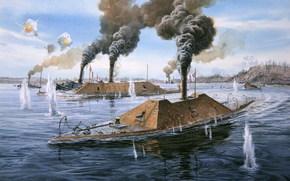 armadillo, civil war, USA, sea fight