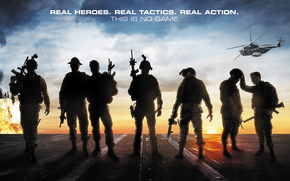 Act of valor, Soldiers, weapon, thriller, helicopter