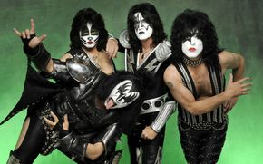рок-группа, макияж, хиппи