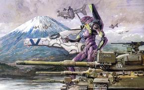 Serbatoi, combattere, robot, arma