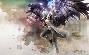 Online, MMORPG, Warrior, wings, mage, ax