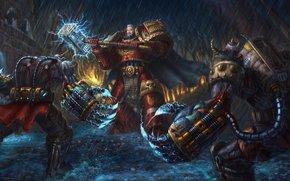 Space Marine, Demons, hammer