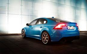 arquitetura, azul, Volvo, carros, maquinaria, Carro
