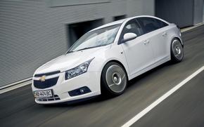 Auto, berlina, bianco, Chevrolet