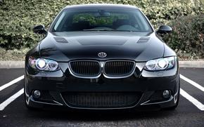 BMW, Black, parking, bmw