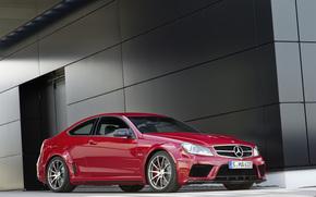 Mercedes-Benz, Classe C, MB, rosso, Auto, carriola, scomparto, carta da parati, Daimler, Germania, colata, Mercedes