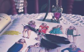 сова, украшение, цепочка, серьги, журнал, мода, перья