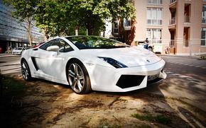 Lamborghini, Lamborghini, Coche, Color blanco, coches, Maquinaria, Coche