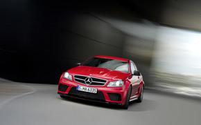 Mercedes-Benz, Classe C, MB, cavallo castrato, Mears, carriola, Sintonia, scomparto, rosso, velocit, Germania, Daimler, carta da parati, Mercedes