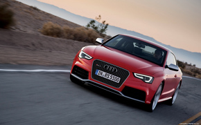 Audi, sunset, red, asphalt, lights, xenon, Germany, German, beauty, Arts, ART, Audi