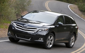 Toyota, Venza, Touring, front, gray, road, toyota