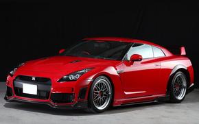 Nissan, GT-R, rot, Fach, Sportwagen, Autos, Maschinen, Auto