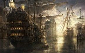 rado javor, empire: total war, bay, harbor, ships.