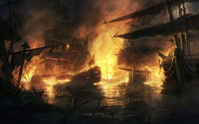 empire: total war, rado javor, fire, battle, ships.