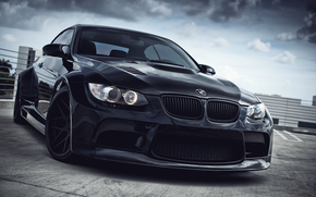 BMW, Black, daylight, bmw
