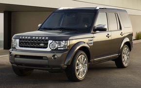 Land Rover, Laksheri, jeep, SUV, frente, luces, CD, fondo, Land Rover