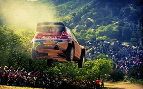 Abu Dhabi, Sport, ford, rally, race, Competition, Car, car, machine, people, Trees, forest, ford