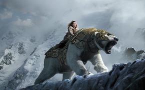 La bussola d'oro, sopportare, ragazza, neve, Montagne