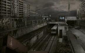 Eisenbahn, Autos, Container