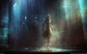 kentaro kanamoto, girl, rain