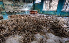 Chernobyl, maschere, camera