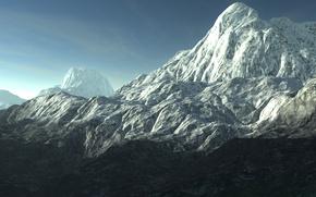 Природа, Гора, Снег, Лед