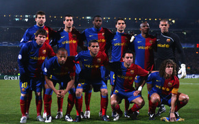 football, barcelona, team, field