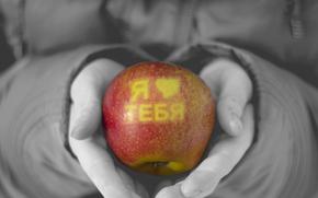 amore, sensazione, mela