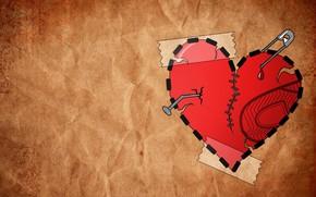 сердце, минимализм, заплатки, любовь