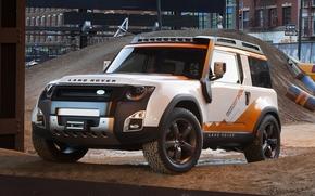 Land Rover, Concetto, camionetta, SUV, anteriore, costruzione, Land Rover