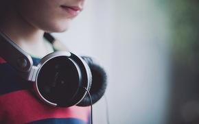 fones de ouvido, msica, macro