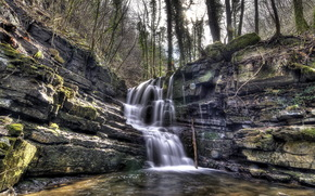 waterfall, river, nature, landscape