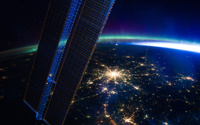land, ms, Moscow, lights, aurora polaris, Pleiades