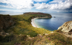 landscape, peninsula, coast, sea, horizon