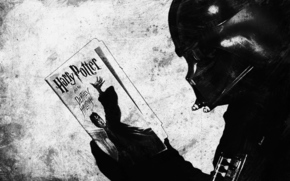 звездные войны, книга, монохромное, маска, чтение
