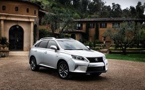Lexus, crossover, jeep, silver, home, Trees, lexus