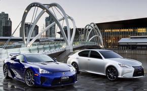 coppia, strada, Lexus