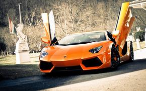 Lamborghini, Aventador, LP700-4, Lamborghini, Lamborghini, Aventador, auto, macchinario, Auto