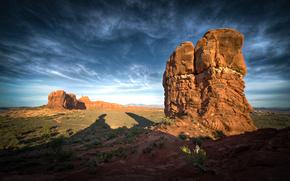 natura, cielo, nuvole, Rocks, ombra